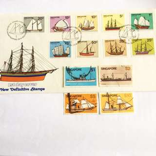 1980 Ship Series Stamps (Full Set)