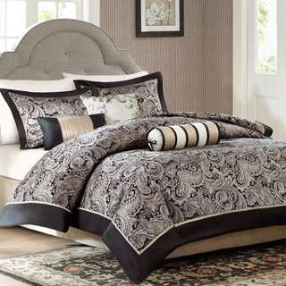 Brand New MADISON PARK 6PC Full/Queen Duvet Cover Set