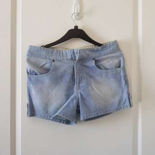 Mental denim shorts