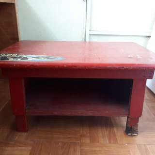 Small red coffee table
