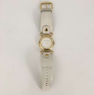 Marc Jacobs White and Gold Leather Watch