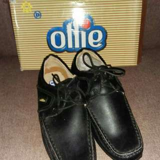 ollie black shoes for boys with lace US2(33)