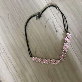 Necklace pink