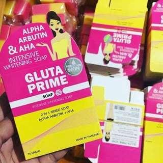 Gluta prime plus soap Thailand