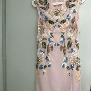 Needle and Thread Embellished Pink Dress 粉紅裙