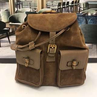 Celine Seude Leather Backpack