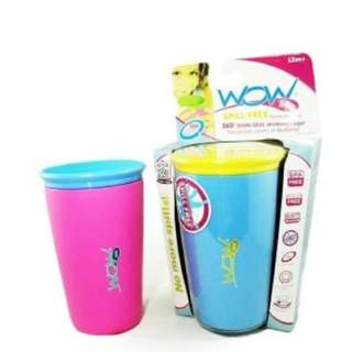 Spill Free Drinking Cup (Wow Cup) pink