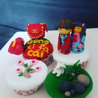Fondant Cupcake edisi imlek isi 4