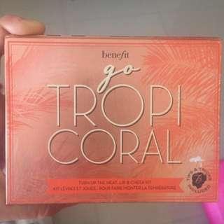 Benefit Tropi Coral kit (coralista blush) ORI