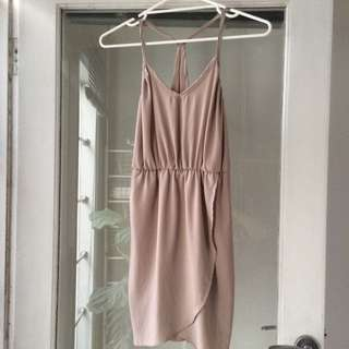 Nude/blush Colour Dress Sz sm