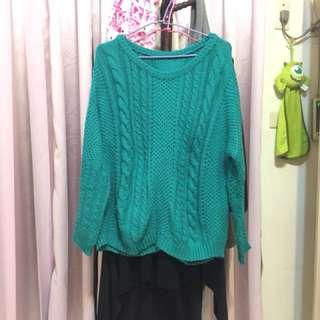 🚚 圓領麻花針織毛衣