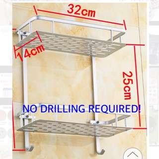 BNIB Aluminum Double Rack Bathroom Kitchen