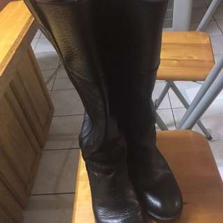 Lucky Brand leather hibiscus boots. Buy this in Nordstorm for $250. Used one winter season. Size 8 with wide calf
