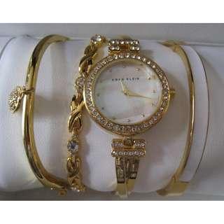 Anne Klein Watch & Bracelets New in Box
