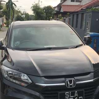 Black Honda Vezel For Rent