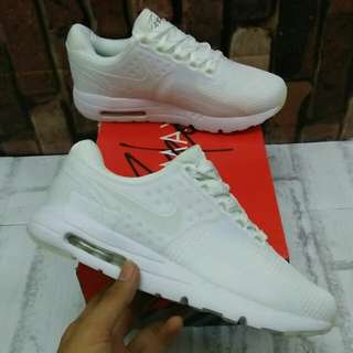 🚫habis🚫NIKE AIR MAX ZERO TRIPLE WHITE MIRROR QUALITY