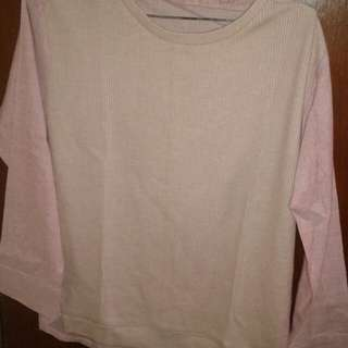 Baju semi-sweater warna pink