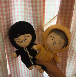 Bts suga and rapmon doll frm @rapmon cafe