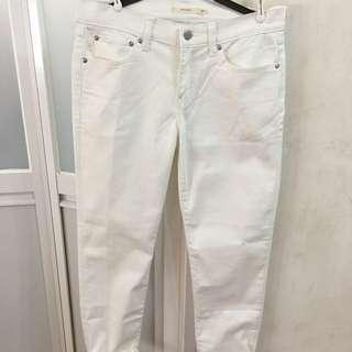 Levi's Boyfriend white jeans