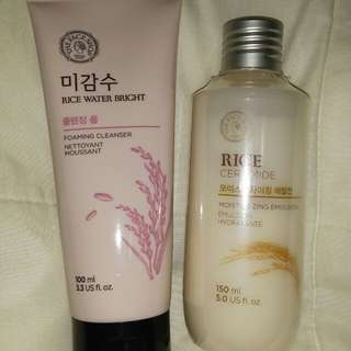 Facial wash and moisturizer