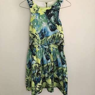 Tropical Dress Fits 8-10