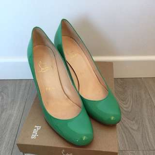 Christian Louboutin Mint color heels