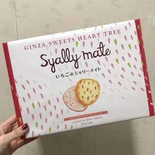日本 Tokyo banana 銀座 草莓夾心餅乾  16枚入 日本限定 現貨