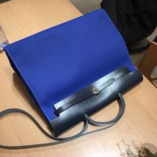 Hermes herbag 39cm 7T電光藍