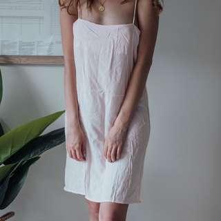 Project REM - Pink Pajama Slip Dress Viscose Material #1 ✧ Tara Milk Tea
