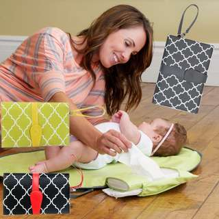 ★Portable Baby Diaper Changing Mat★Waterproof★Foldable into Clutch★Baby Travel Changing Kit
