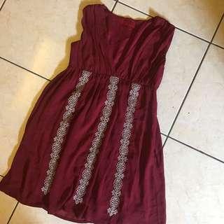 DRESS - maroon Unbranded