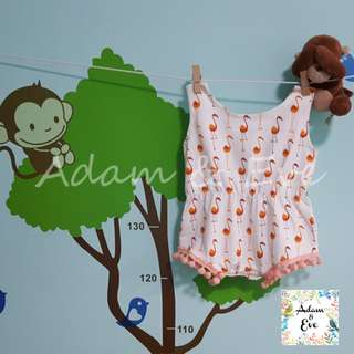 ♫♫Baby Fashion♫♫ Baby Girl Romper B13 – Flamingo Romper $14.90