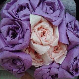 Handmade paper bouquet