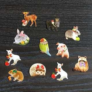 日本森女可愛動物貼紙分裝