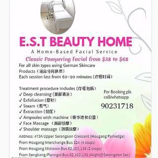 Home Based Facial