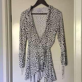 Seven wonders black and white leopard print dress