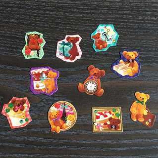 日本熊仔貼紙分裝韓 DIY素材 手帳裝飾