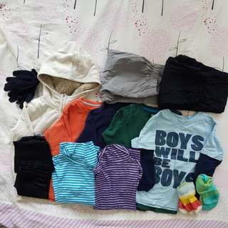 Winter clothings bundle for 5-7y