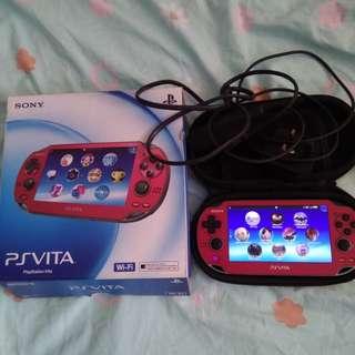 Sony PS Vita Red 64GB Henkaku enso