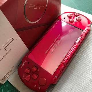 Sony Psp 3000 Slim Carnival Radiant Red