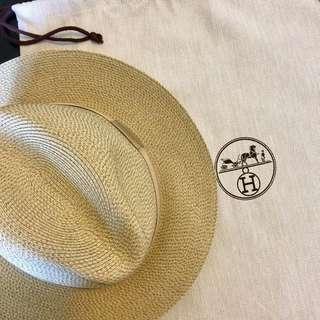 放全新Hermes Rattan Hat柔軟藤帽