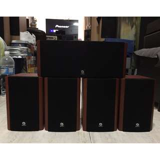 Brand NEW Boston Acoustics CS2310 5-Pieces Home Theater Speakers with speaker cables (8 ohms, 100watts)