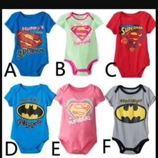25808 Superman Printing Romper