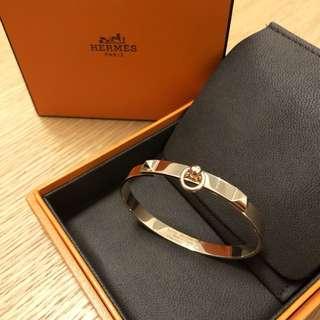 99% New Hermes Collier De Chien Rose Gold CDC Bracelet Bangle Cuff SH