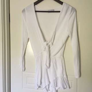 Lioness white playsuit