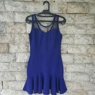 SOUTH SHORES Blue Mesh Dress