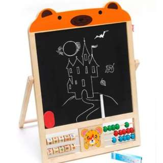 Bear Educational Double Side Drawing Board Easel Set Magnetic Stent (New)