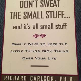 Don't sweat the small stuff Book