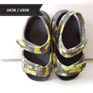 ADIDAS kids sandal lime green + grey