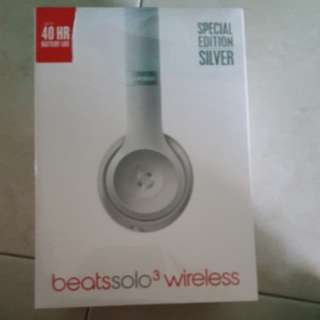 Brand new Beats solo 3 wireless (Special edition: silver)